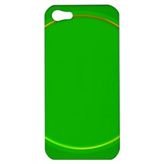 Green Circle Fractal Frame Apple Iphone 5 Hardshell Case by Simbadda