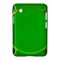 Green Circle Fractal Frame Samsung Galaxy Tab 2 (7 ) P3100 Hardshell Case  by Simbadda