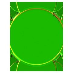 Green Circle Fractal Frame Drawstring Bag (large) by Simbadda