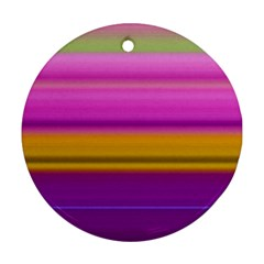 Stripes Colorful Background Colorful Pink Red Purple Green Yellow Striped Wallpaper Ornament (round) by Simbadda