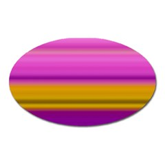 Stripes Colorful Background Colorful Pink Red Purple Green Yellow Striped Wallpaper Oval Magnet by Simbadda