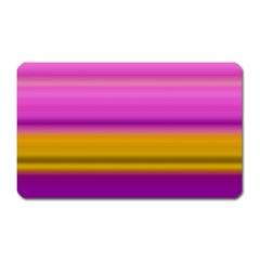 Stripes Colorful Background Colorful Pink Red Purple Green Yellow Striped Wallpaper Magnet (rectangular) by Simbadda