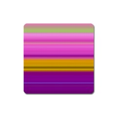 Stripes Colorful Background Colorful Pink Red Purple Green Yellow Striped Wallpaper Square Magnet by Simbadda