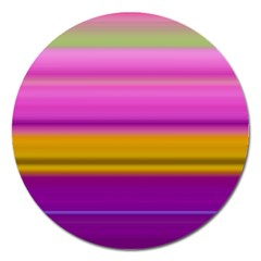 Stripes Colorful Background Colorful Pink Red Purple Green Yellow Striped Wallpaper Magnet 5  (round) by Simbadda