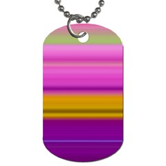 Stripes Colorful Background Colorful Pink Red Purple Green Yellow Striped Wallpaper Dog Tag (two Sides) by Simbadda