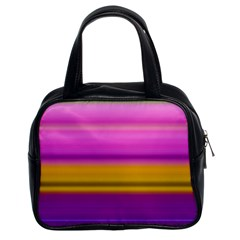 Stripes Colorful Background Colorful Pink Red Purple Green Yellow Striped Wallpaper Classic Handbags (2 Sides) by Simbadda