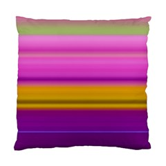 Stripes Colorful Background Colorful Pink Red Purple Green Yellow Striped Wallpaper Standard Cushion Case (two Sides) by Simbadda