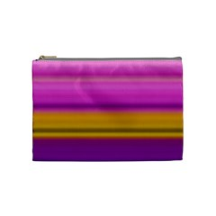 Stripes Colorful Background Colorful Pink Red Purple Green Yellow Striped Wallpaper Cosmetic Bag (medium)  by Simbadda