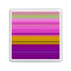 Stripes Colorful Background Colorful Pink Red Purple Green Yellow Striped Wallpaper Memory Card Reader (square)  by Simbadda