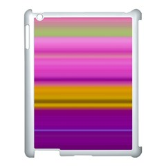 Stripes Colorful Background Colorful Pink Red Purple Green Yellow Striped Wallpaper Apple Ipad 3/4 Case (white) by Simbadda