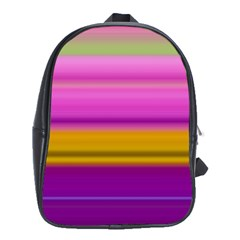 Stripes Colorful Background Colorful Pink Red Purple Green Yellow Striped Wallpaper School Bags (xl)  by Simbadda