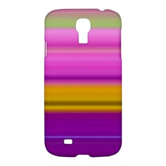 Stripes Colorful Background Colorful Pink Red Purple Green Yellow Striped Wallpaper Samsung Galaxy S4 I9500/i9505 Hardshell Case by Simbadda