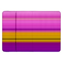 Stripes Colorful Background Colorful Pink Red Purple Green Yellow Striped Wallpaper Samsung Galaxy Tab 8 9  P7300 Flip Case by Simbadda