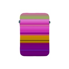 Stripes Colorful Background Colorful Pink Red Purple Green Yellow Striped Wallpaper Apple Ipad Mini Protective Soft Cases by Simbadda