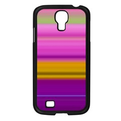 Stripes Colorful Background Colorful Pink Red Purple Green Yellow Striped Wallpaper Samsung Galaxy S4 I9500/ I9505 Case (black) by Simbadda