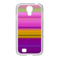 Stripes Colorful Background Colorful Pink Red Purple Green Yellow Striped Wallpaper Samsung Galaxy S4 I9500/ I9505 Case (white) by Simbadda