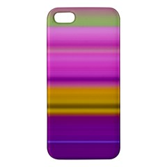 Stripes Colorful Background Colorful Pink Red Purple Green Yellow Striped Wallpaper Iphone 5s/ Se Premium Hardshell Case by Simbadda
