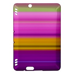 Stripes Colorful Background Colorful Pink Red Purple Green Yellow Striped Wallpaper Kindle Fire HDX Hardshell Case by Simbadda