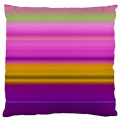 Stripes Colorful Background Colorful Pink Red Purple Green Yellow Striped Wallpaper Standard Flano Cushion Case (two Sides) by Simbadda