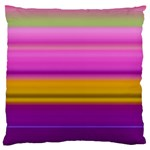 Stripes Colorful Background Colorful Pink Red Purple Green Yellow Striped Wallpaper Large Flano Cushion Case (Two Sides) Back