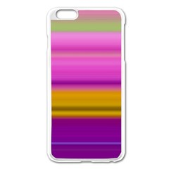 Stripes Colorful Background Colorful Pink Red Purple Green Yellow Striped Wallpaper Apple Iphone 6 Plus/6s Plus Enamel White Case by Simbadda