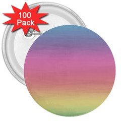 Watercolor Paper Rainbow Colors 3  Buttons (100 Pack)  by Simbadda