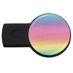 Watercolor Paper Rainbow Colors Usb Flash Drive Round (2 Gb) by Simbadda