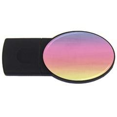 Watercolor Paper Rainbow Colors Usb Flash Drive Oval (4 Gb) by Simbadda