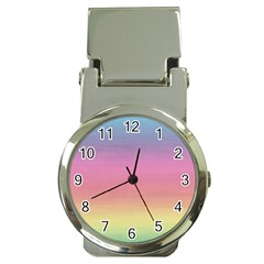 Watercolor Paper Rainbow Colors Money Clip Watches by Simbadda