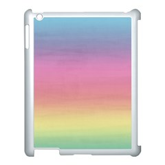 Watercolor Paper Rainbow Colors Apple Ipad 3/4 Case (white) by Simbadda