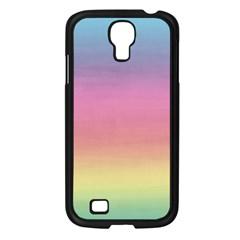 Watercolor Paper Rainbow Colors Samsung Galaxy S4 I9500/ I9505 Case (black) by Simbadda