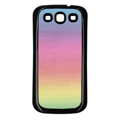 Watercolor Paper Rainbow Colors Samsung Galaxy S3 Back Case (black) by Simbadda