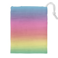 Watercolor Paper Rainbow Colors Drawstring Pouches (xxl) by Simbadda