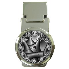 Grey Fractal Background With Chains Money Clip Watches by Simbadda