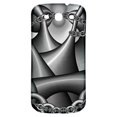 Grey Fractal Background With Chains Samsung Galaxy S3 S Iii Classic Hardshell Back Case by Simbadda