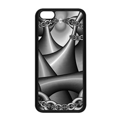 Grey Fractal Background With Chains Apple Iphone 5c Seamless Case (black) by Simbadda