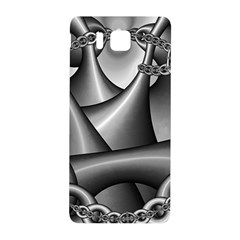 Grey Fractal Background With Chains Samsung Galaxy Alpha Hardshell Back Case by Simbadda