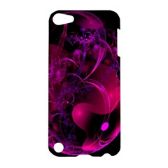 Fractal Using A Script And Coloured In Pink And A Touch Of Blue Apple Ipod Touch 5 Hardshell Case by Simbadda