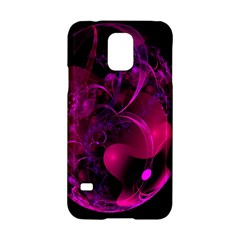 Fractal Using A Script And Coloured In Pink And A Touch Of Blue Samsung Galaxy S5 Hardshell Case  by Simbadda
