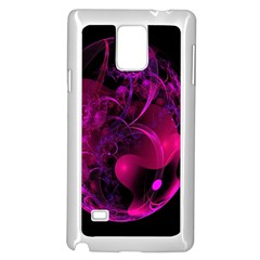 Fractal Using A Script And Coloured In Pink And A Touch Of Blue Samsung Galaxy Note 4 Case (white)