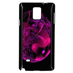 Fractal Using A Script And Coloured In Pink And A Touch Of Blue Samsung Galaxy Note 4 Case (black)