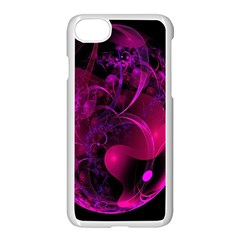 Fractal Using A Script And Coloured In Pink And A Touch Of Blue Apple Iphone 7 Seamless Case (white) by Simbadda