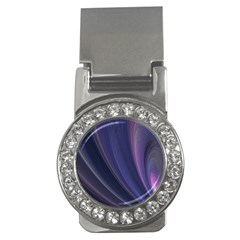 A Pruple Sweeping Fractal Pattern Money Clips (cz)  by Simbadda