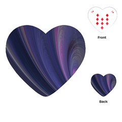 A Pruple Sweeping Fractal Pattern Playing Cards (heart)  by Simbadda