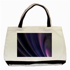A Pruple Sweeping Fractal Pattern Basic Tote Bag by Simbadda