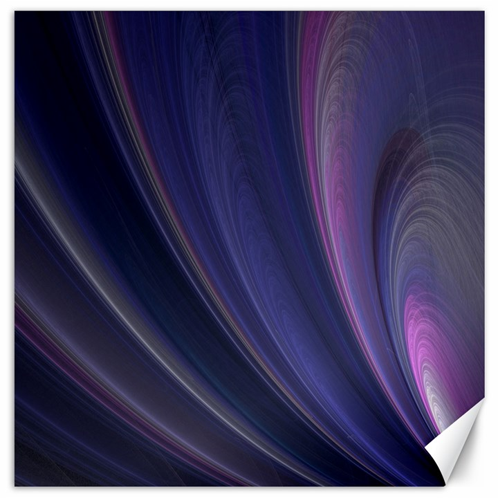 A Pruple Sweeping Fractal Pattern Canvas 16  x 16