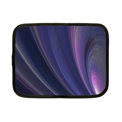 A Pruple Sweeping Fractal Pattern Netbook Case (small)  by Simbadda