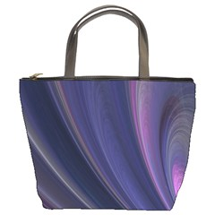 A Pruple Sweeping Fractal Pattern Bucket Bags