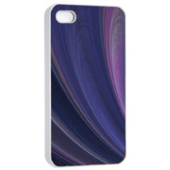A Pruple Sweeping Fractal Pattern Apple Iphone 4/4s Seamless Case (white) by Simbadda