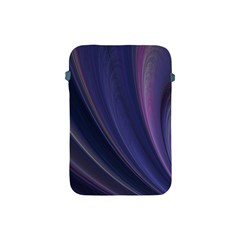 A Pruple Sweeping Fractal Pattern Apple Ipad Mini Protective Soft Cases by Simbadda